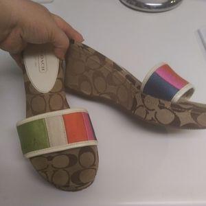 Coach wedge sandals size 9m